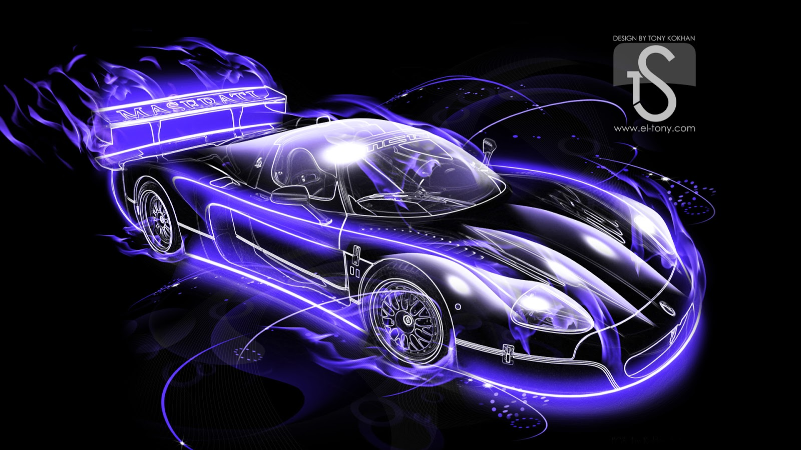 Cool Abstract Cars HD Wallpapers black car 3d abstract 1600x900