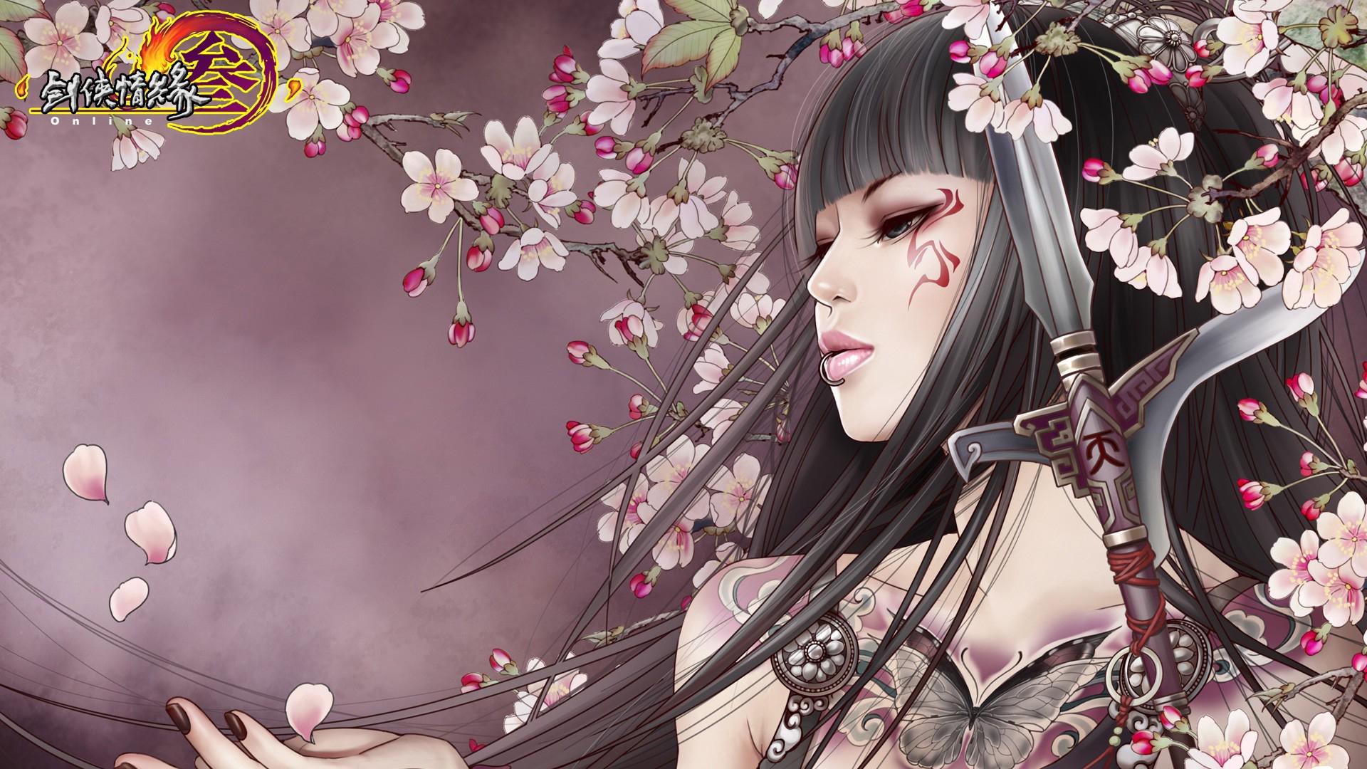 japanese flower tattoo wallpaper 1920x1080