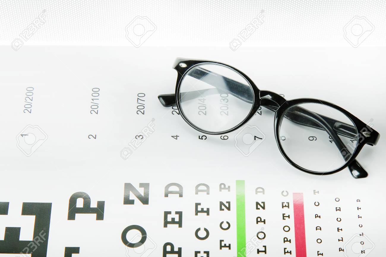 Diagram Of Checking Eyes Glasses Optometry Medical Background 1300x866