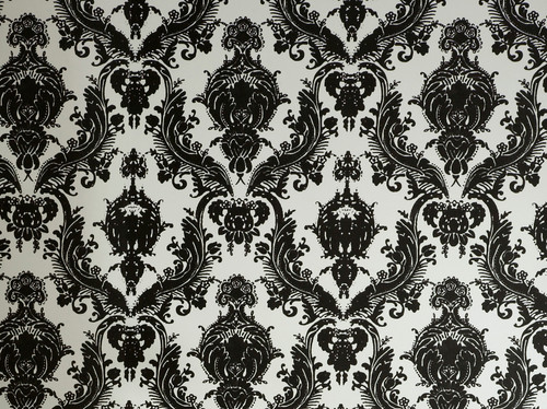 Damsel Self Adhesive Removable Wallpaper BlackWhite More Info 500x374