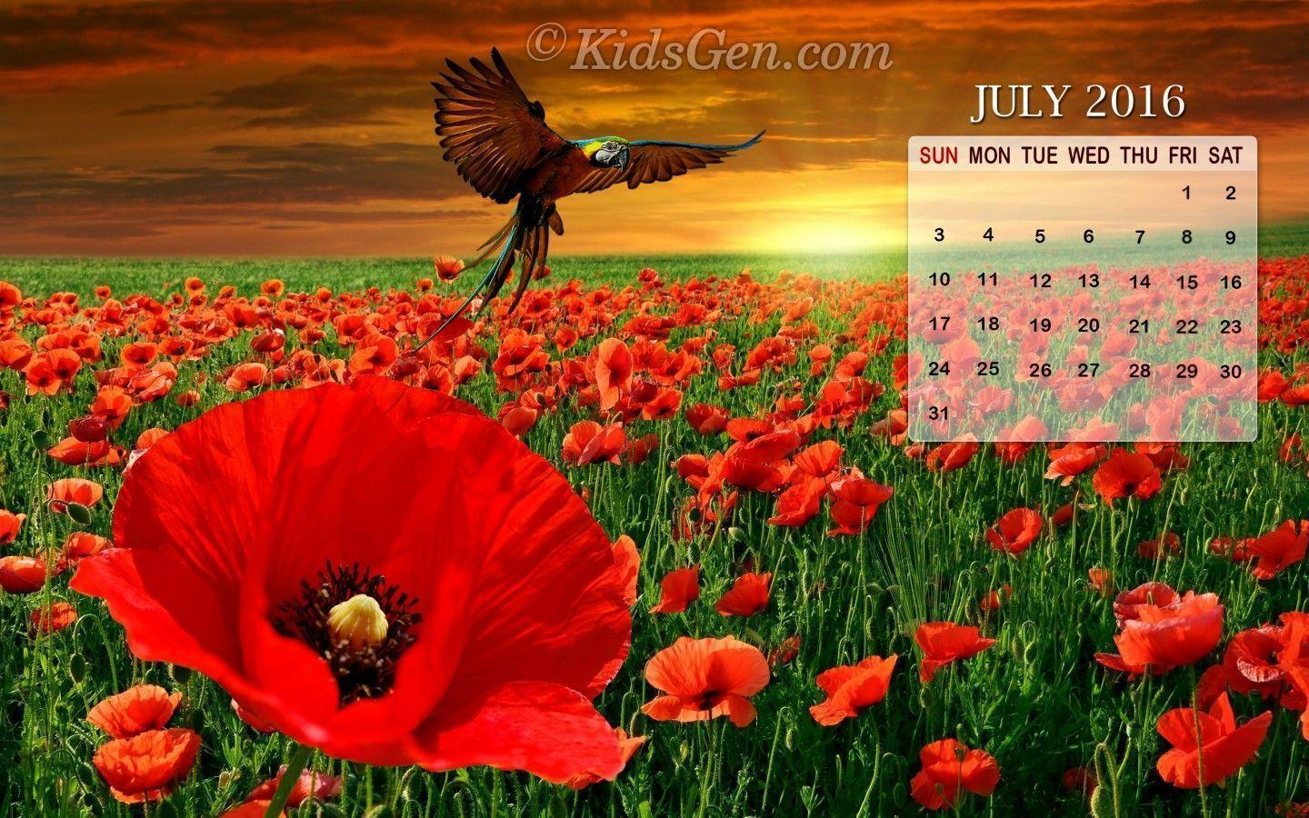 Desktop Wallpapers Calendar July 2016 1440x900