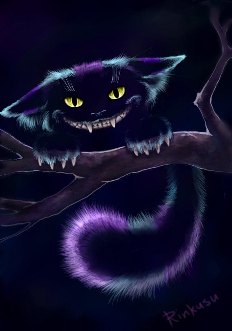 Alice In Wonderland Cheshire Cat Tattoo: Evil Cheshire Cat Wallpaper