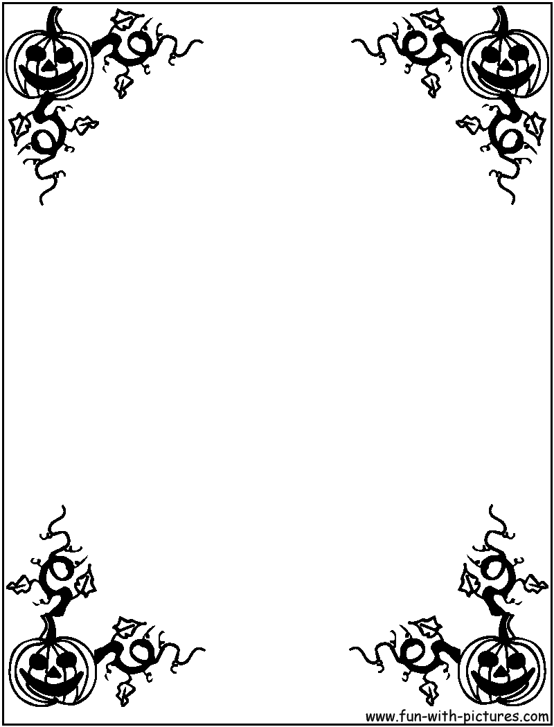 Halloween Border Black And White Clipart Panda   Clipart Images 800x1050