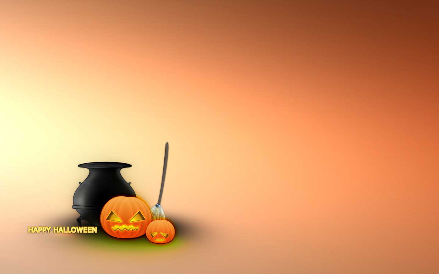 Happy Halloween Orange Wallpaper Wallpaper WallpaperLepi 1440x900
