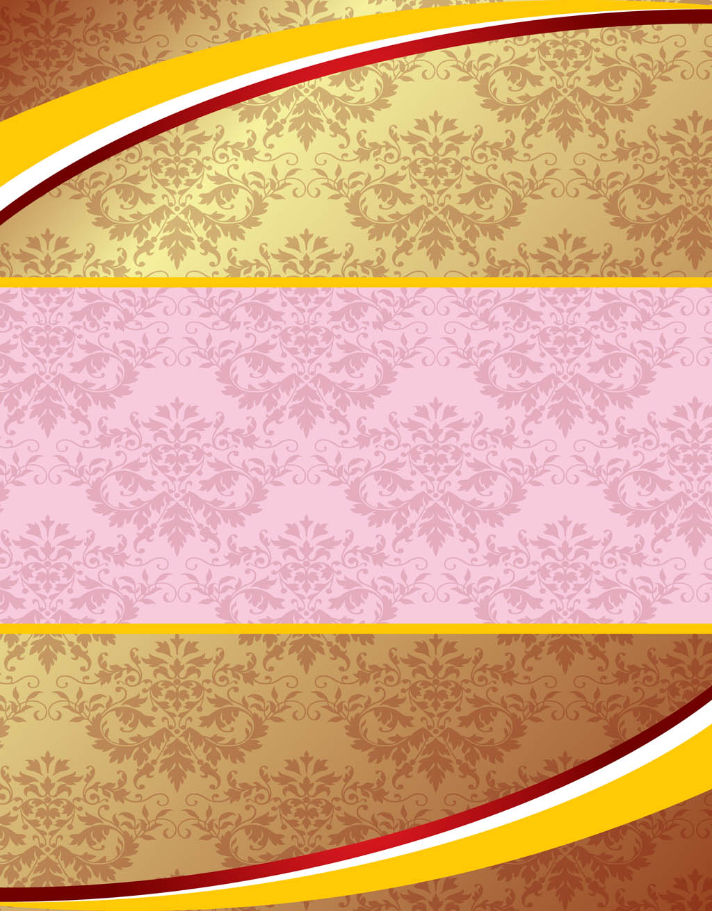 Gold and Pink Wallpape...