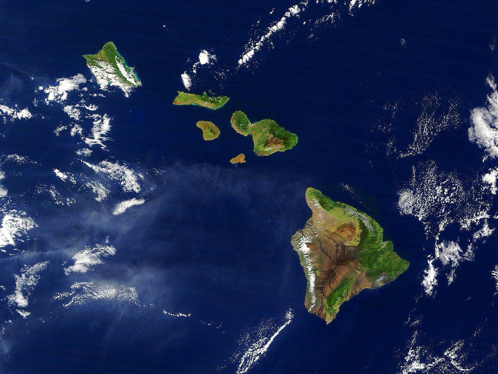 Hawaii images Satellite Image of the Hawaiian Islands wallpaper photos 1600x1200