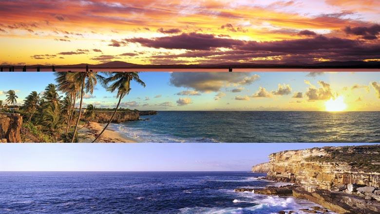 Desktop Fun Beaches Panoramic theme for Windows 8RT dual monitor 780x439