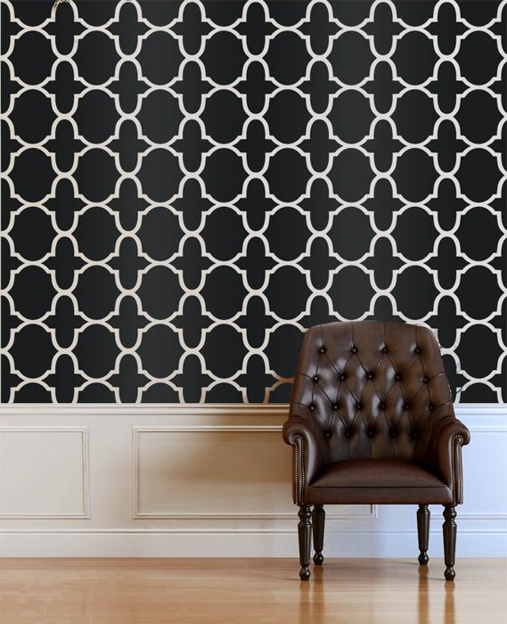 Morocco Inspired Designer Pattern Stencil for Walls Wallpaper Decor 569x700