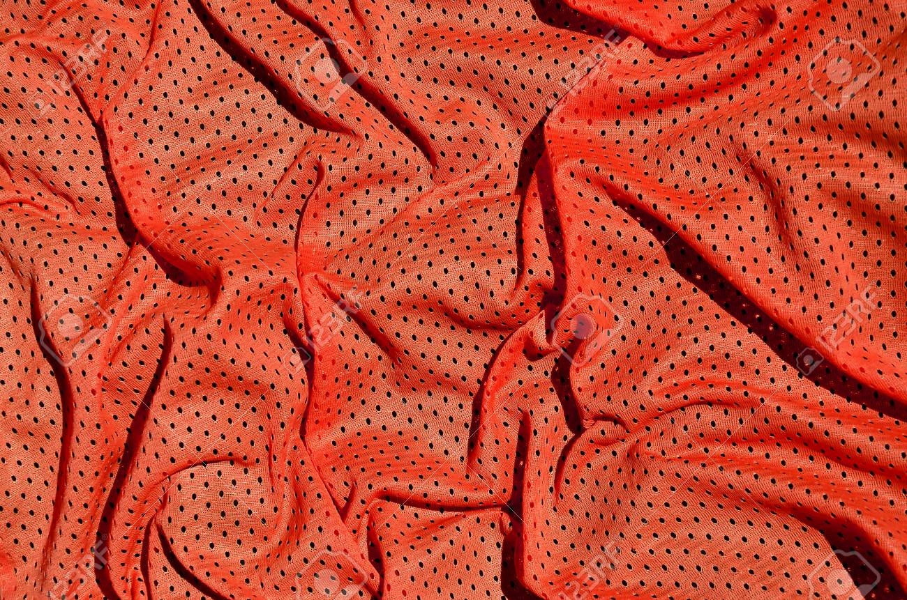 Sport Clothing Fabric Texture Background Top View Of Red 1300x861