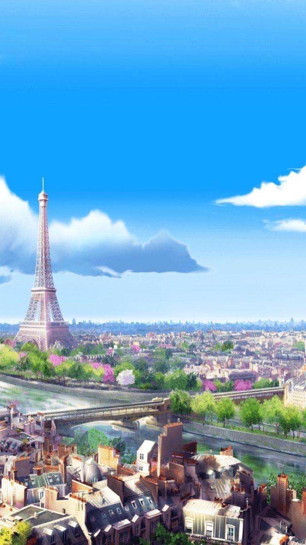 Miraculous   Paris Wallpaper Miraculous ladybug wallpaper 736x1309
