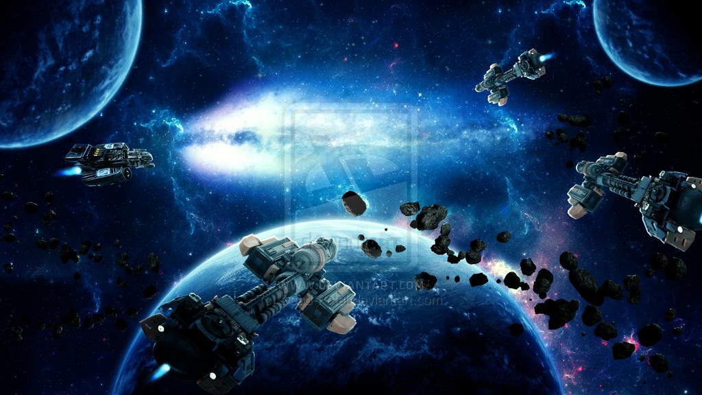 Space Battle Wallpaper by Dead Petal 1024x576
