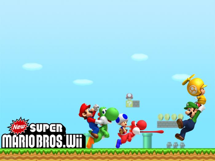 New Super Mario Bros Wii Wallpaper ha sido probado por Softonic pero 700x525
