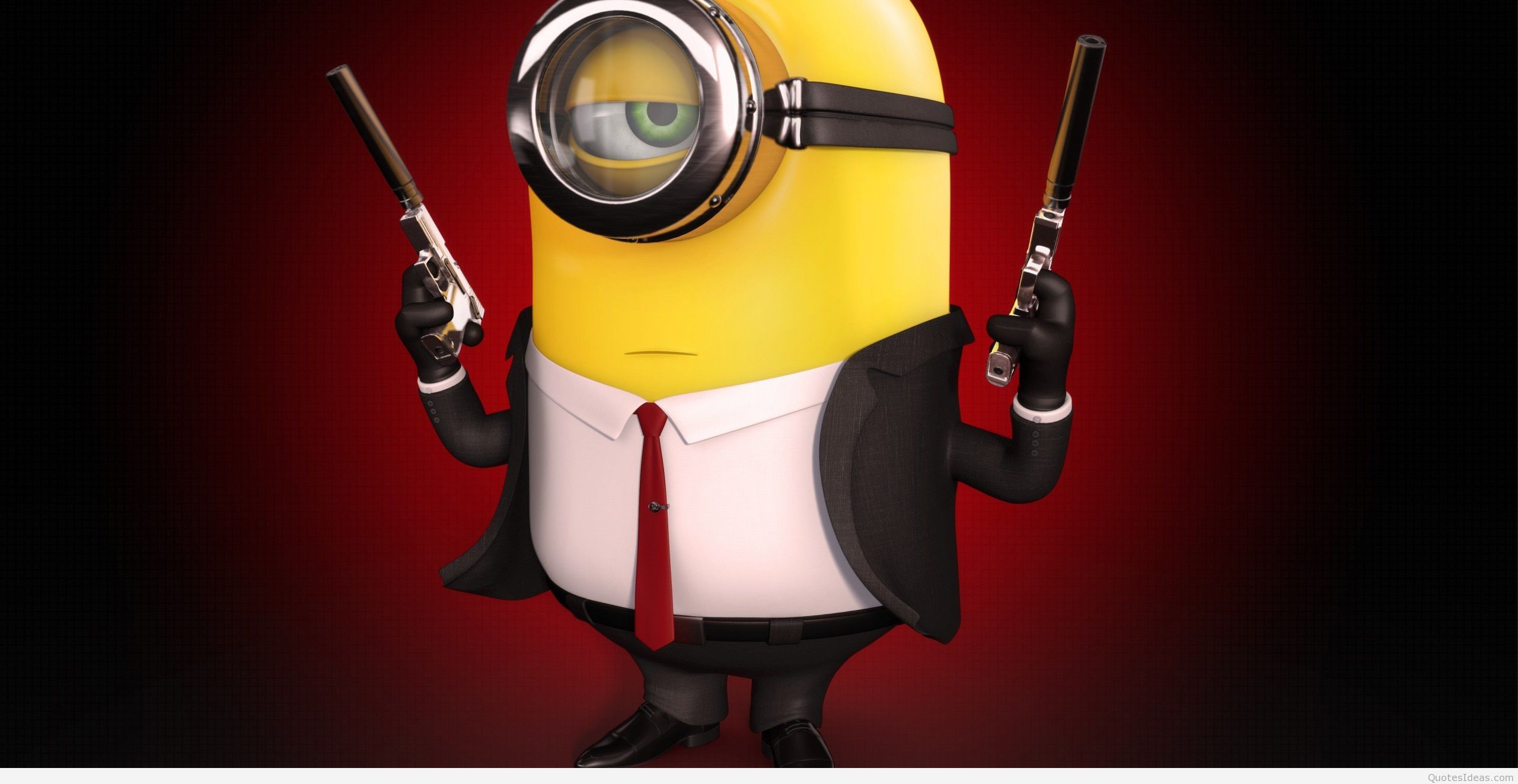 Hitman Minion Wallpaper Funny Movie Photo Wallpaperjpg 2560x1323