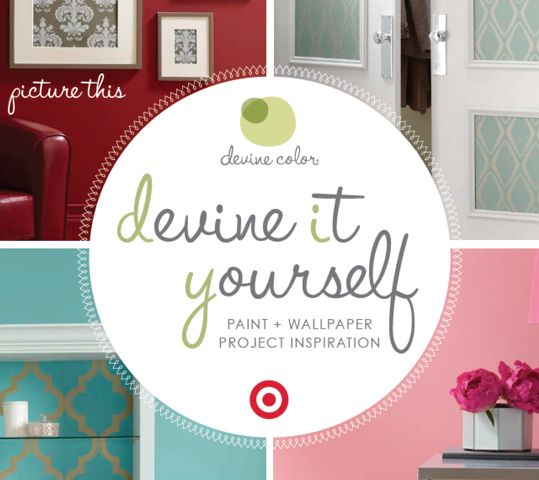 Boutique Target devineityourself devinecolor paint wallpaper 539x480