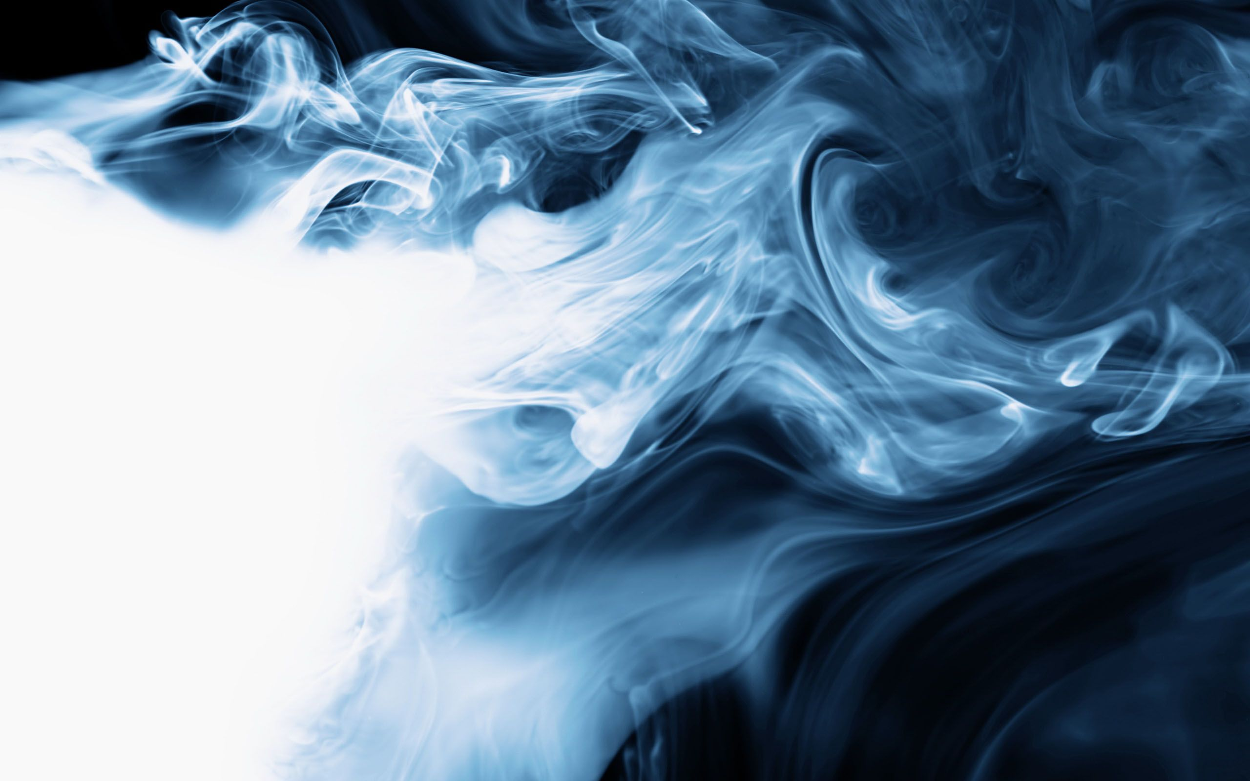 Sublime Smoke blue flowing smoke white 58431 2560x1600