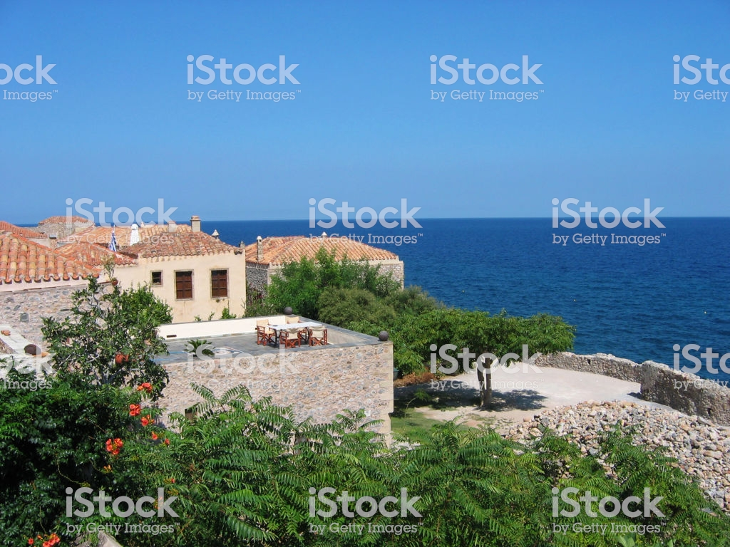 Monemvasia Town At Peloponnese Greece Stock Photo More Pictures 1024x768
