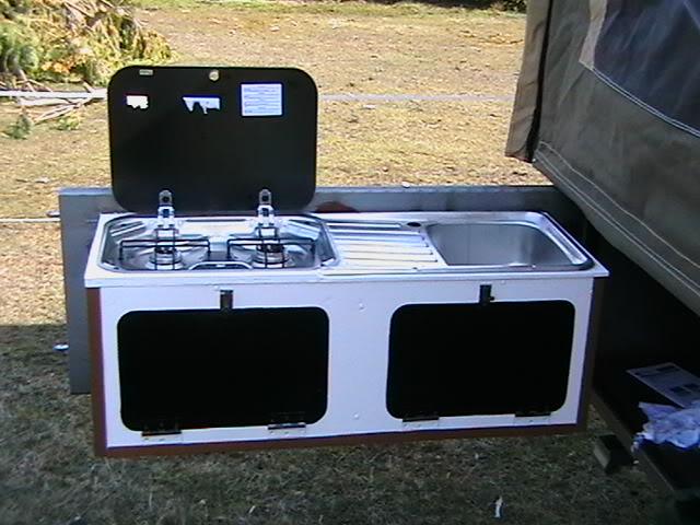 Wallpaper for camp trailers wallpapersafari for Camper trailer kitchen designs
