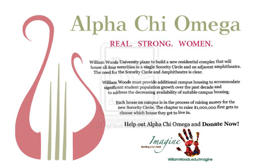 Alpha Chi Omega Post Card by NjElliott 900x582