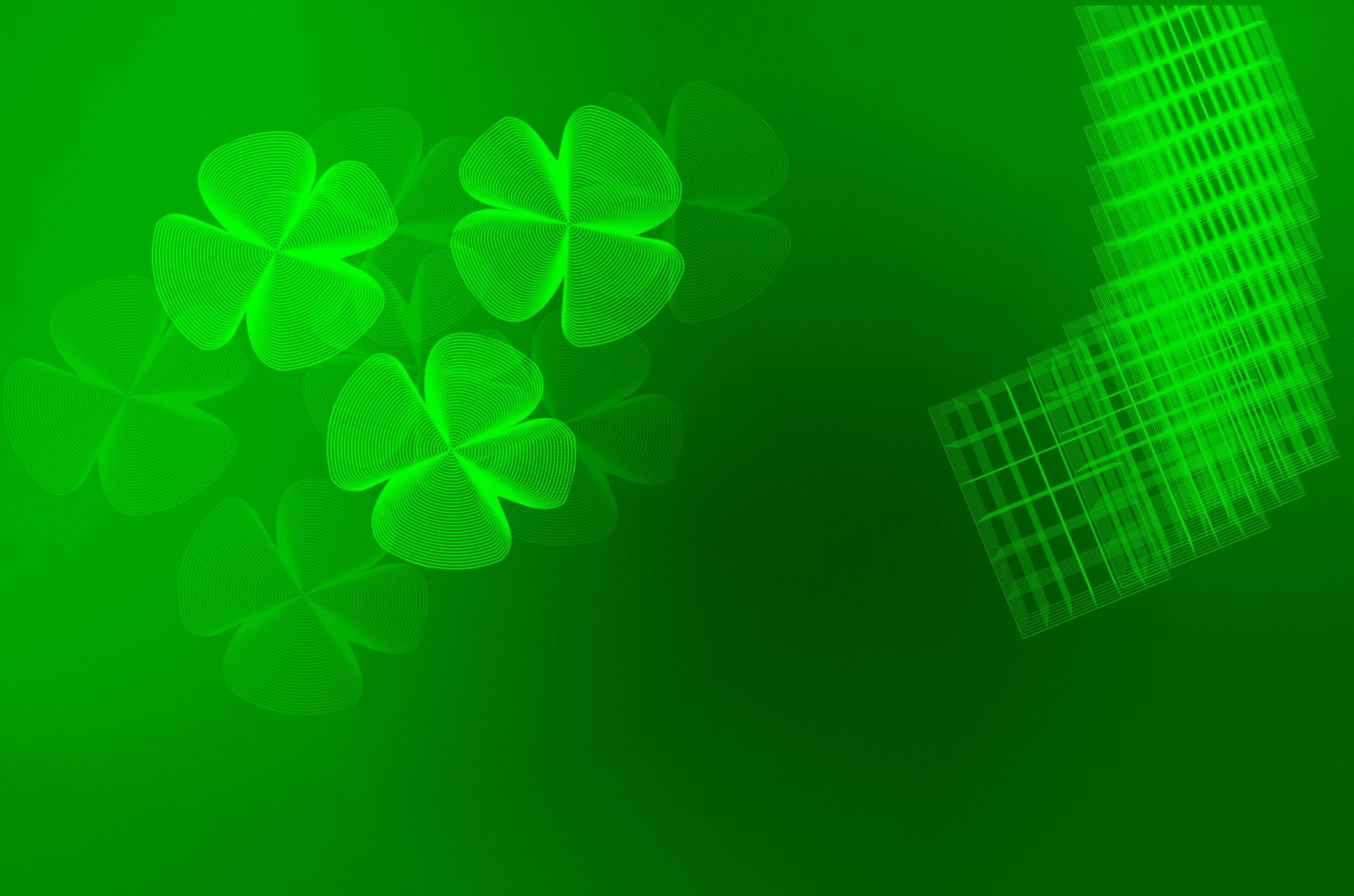 Green Four Leaf Clover Background Stock Photo HD   Public Domain 1920x1271