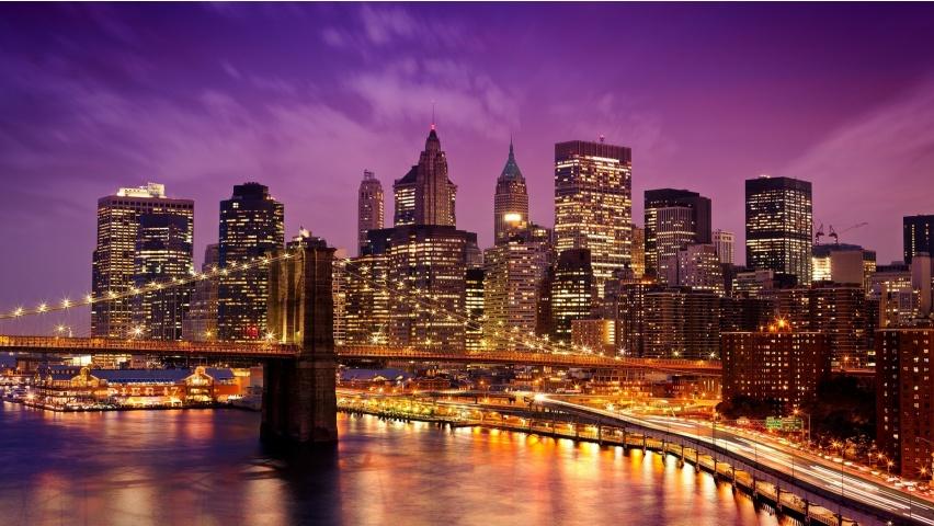New York City Embankment Lights Wallpapers   852x480   191150 852x480