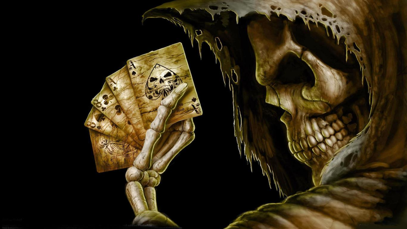 All HD Wallpapers Abstract Poker Skull HD Wallpapers 2012 2013 1366x768