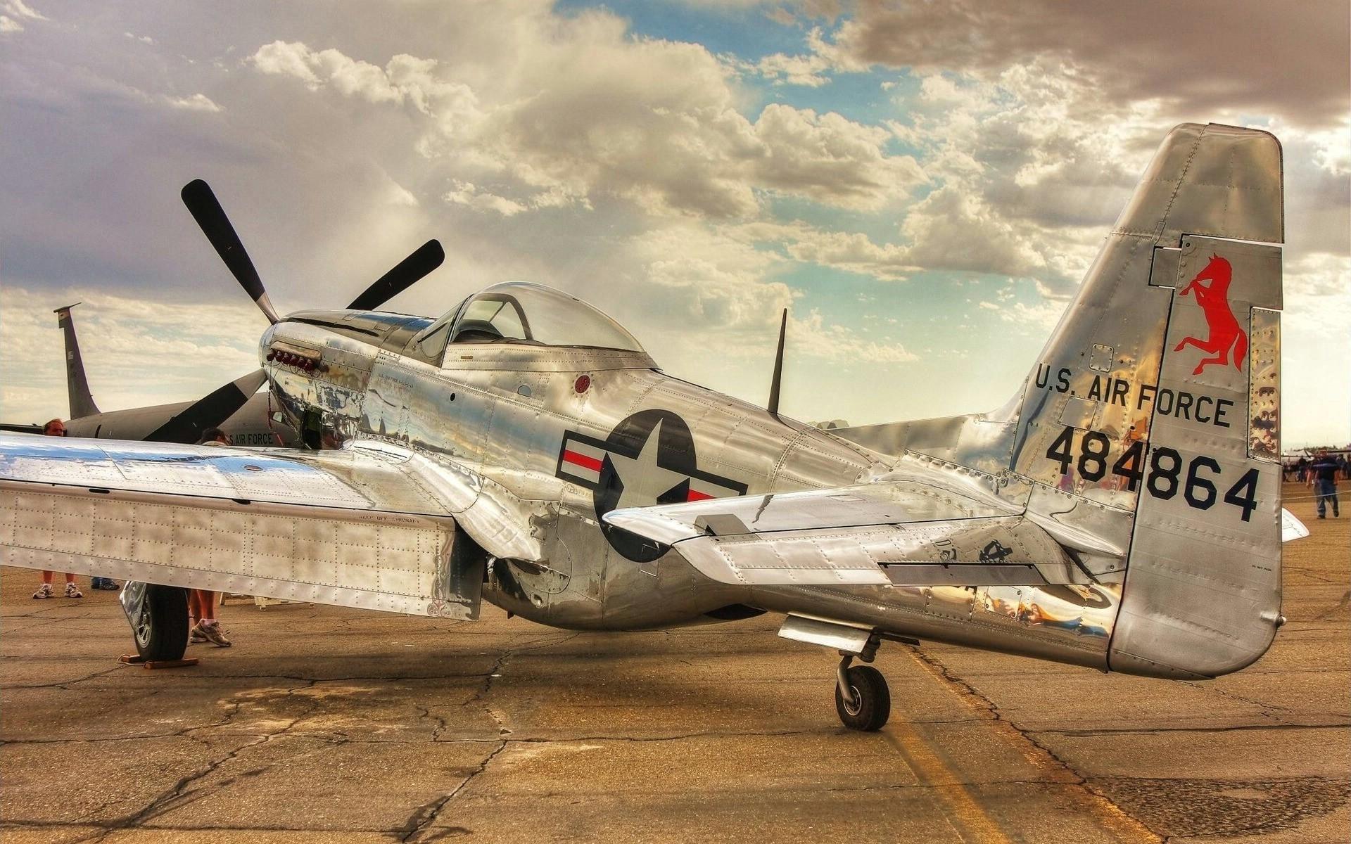 Vintage Airplane US Air Force Wallpapers 1920x1200