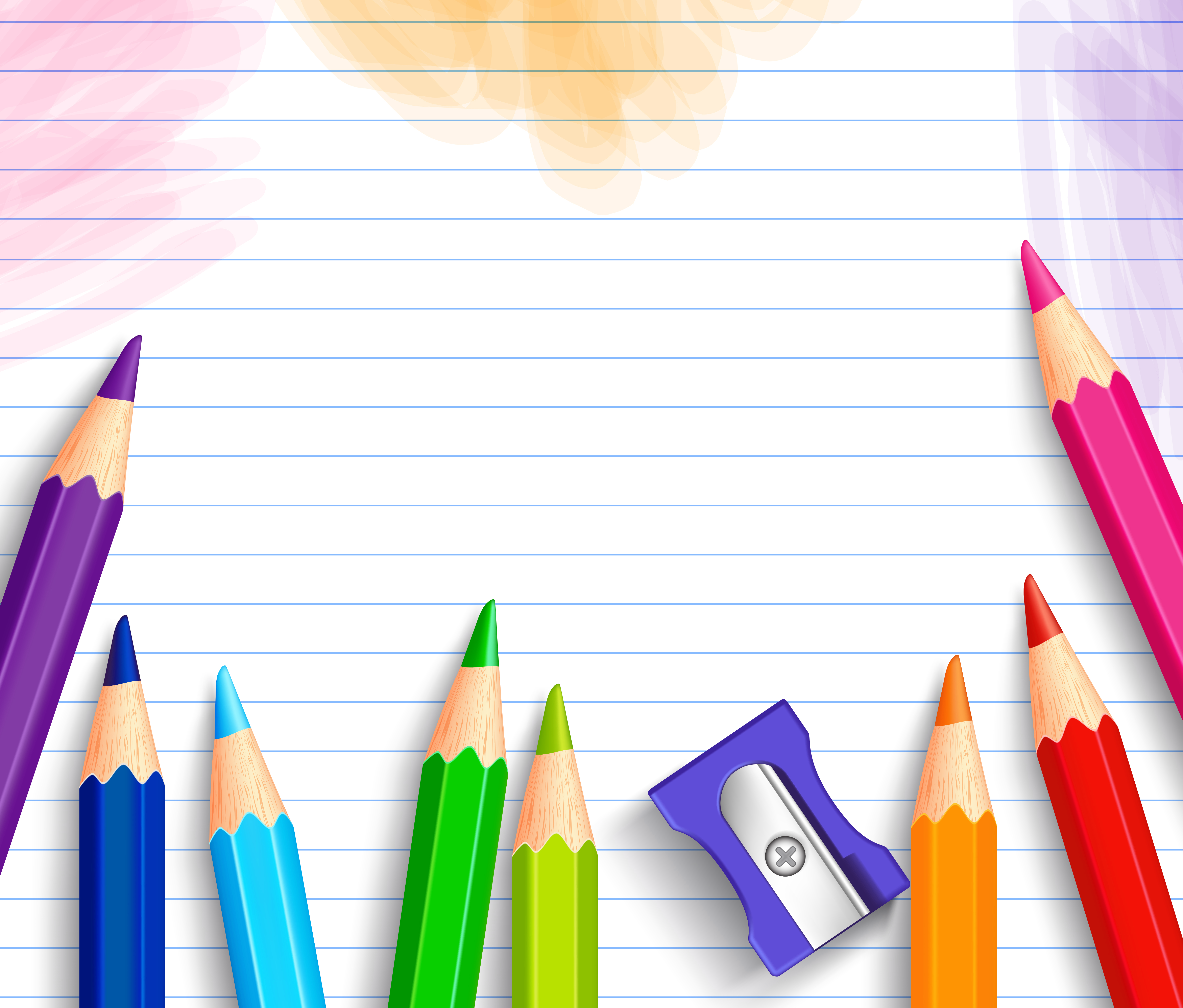 School Background with Pencils Gallery Yopriceville 5866x5000