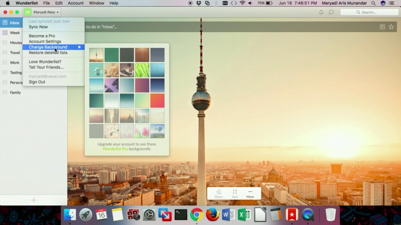 Application for Mac   Wunderlist How to Change Your Background 1280x720