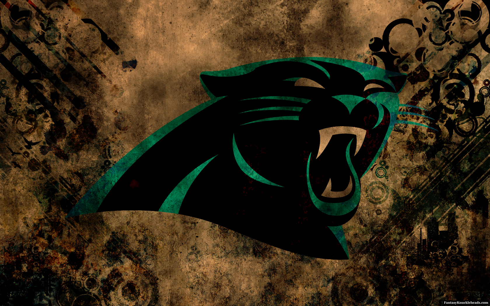 Carolina Panthers Distressed Wallpaper for Phones and Tablets 1680x1050