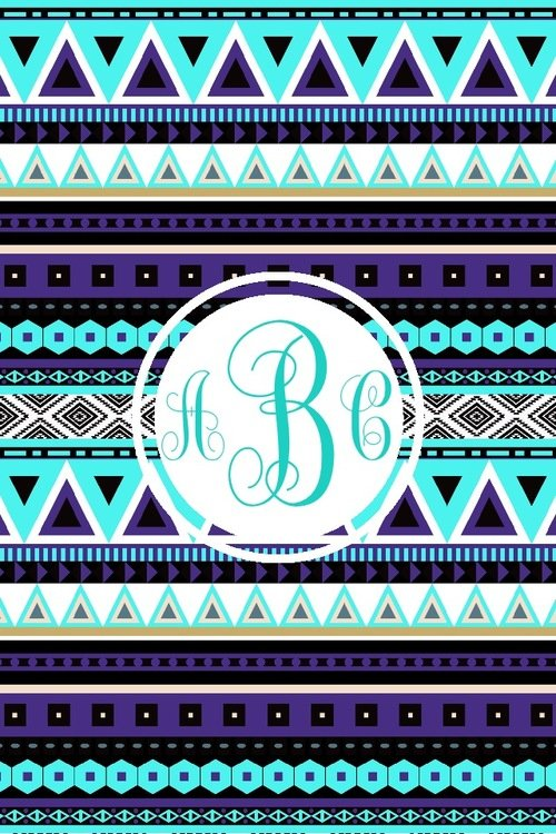 this image include lockscreen iphone monogram tribal and wallpaper 500x750