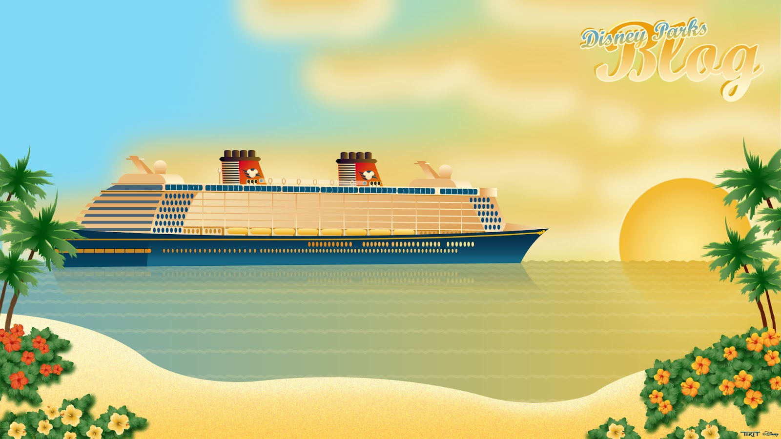Tiki Tackett Disney Fantasy Wallpaper on the Disney Parks Blog 1600x900