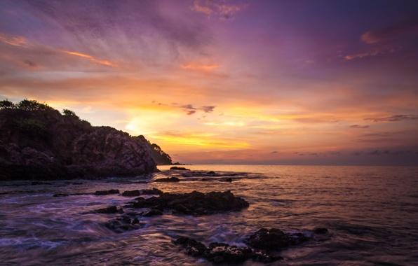 Wallpaper dawn mexico beach ocean rock wallpapers landscapes 596x380
