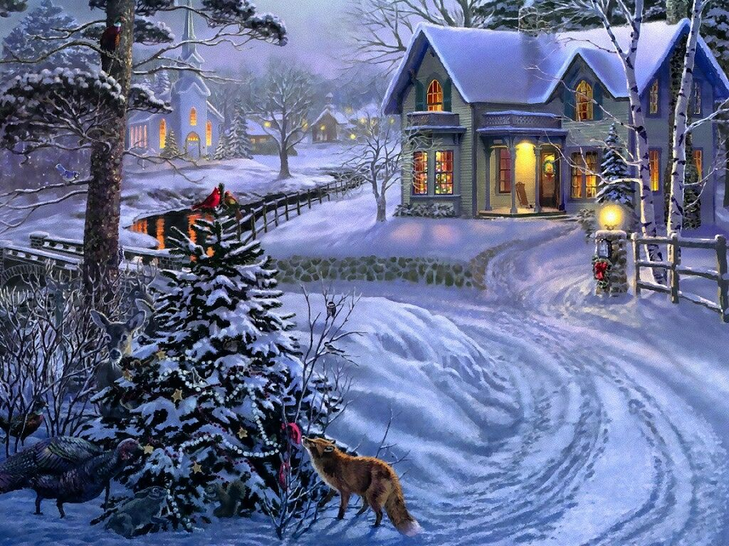 Peace On Earth   Christmas Landscapes Wallpaper Image 1024x768