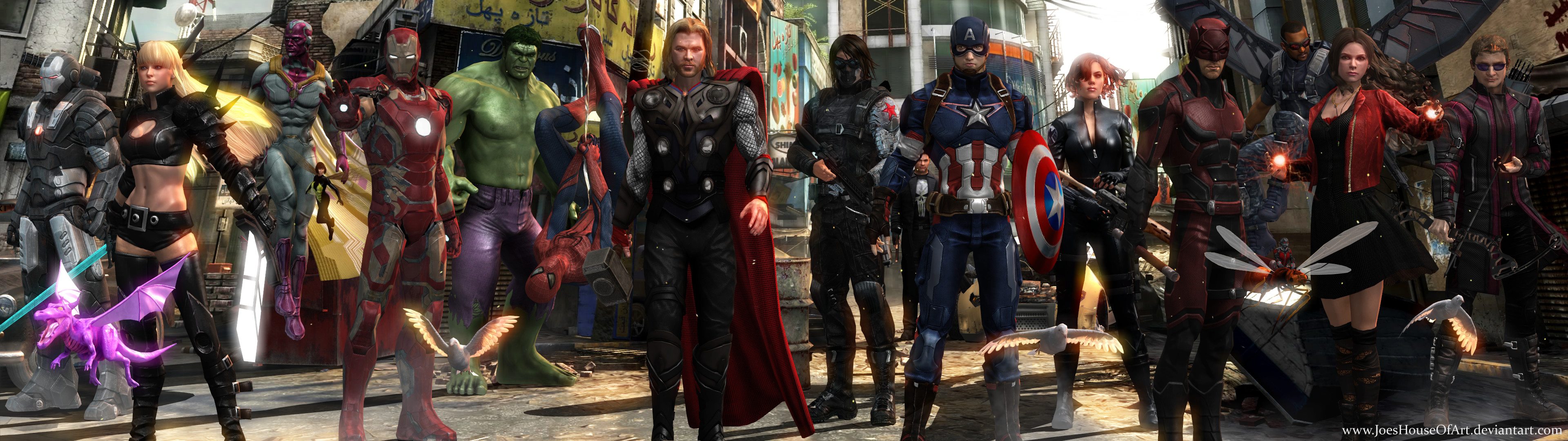 46 Avengers Dual Screen Wallpaper On Wallpapersafari