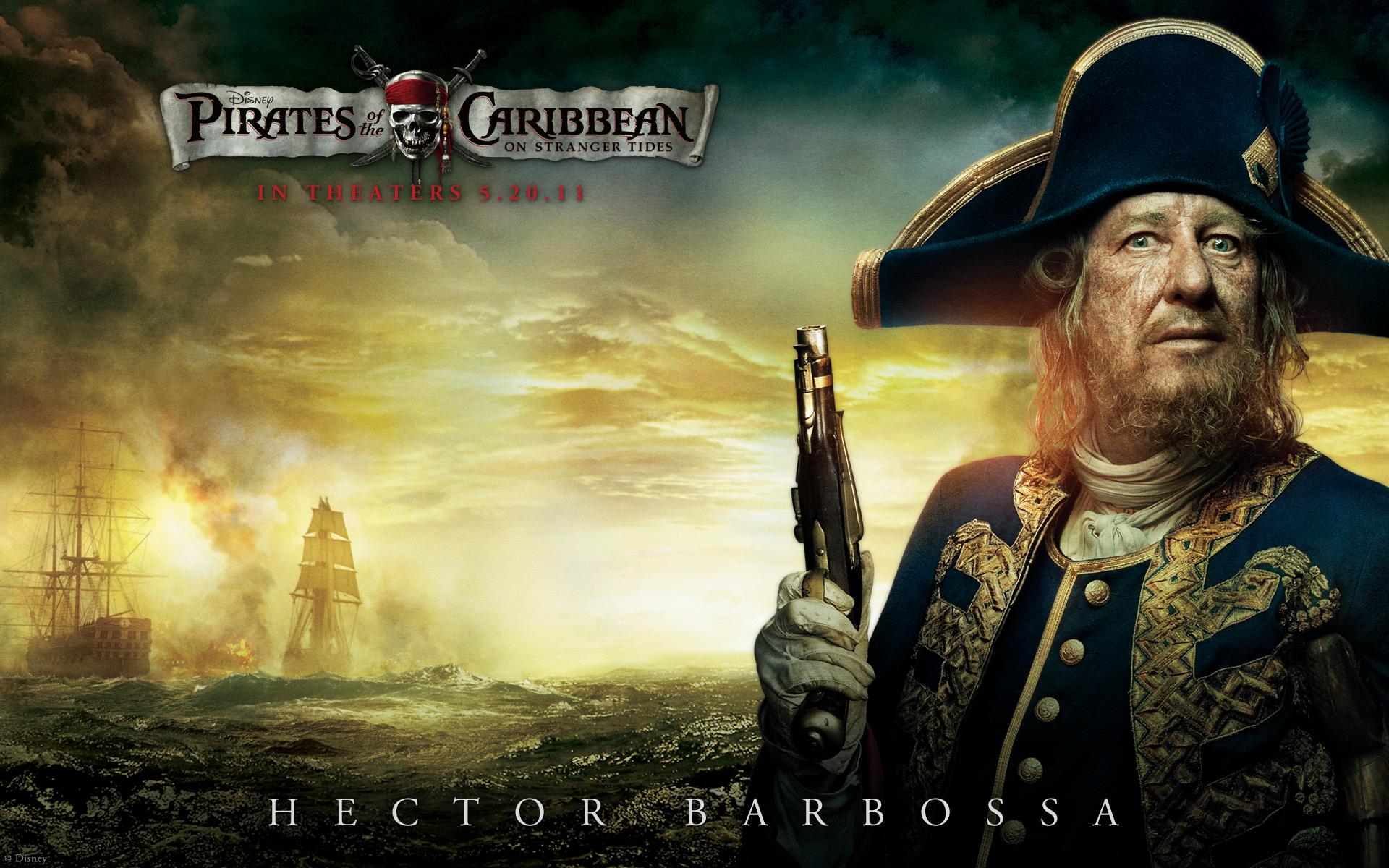 Geoffrey Rush in Pirati dei Caraibi 4 Sfondi Sfondi HD 1920x1200