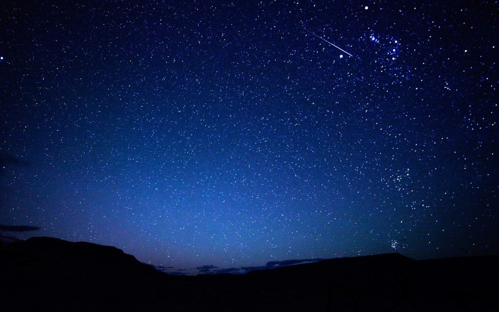 Beautiful Night Sky HD Picture 1024x640