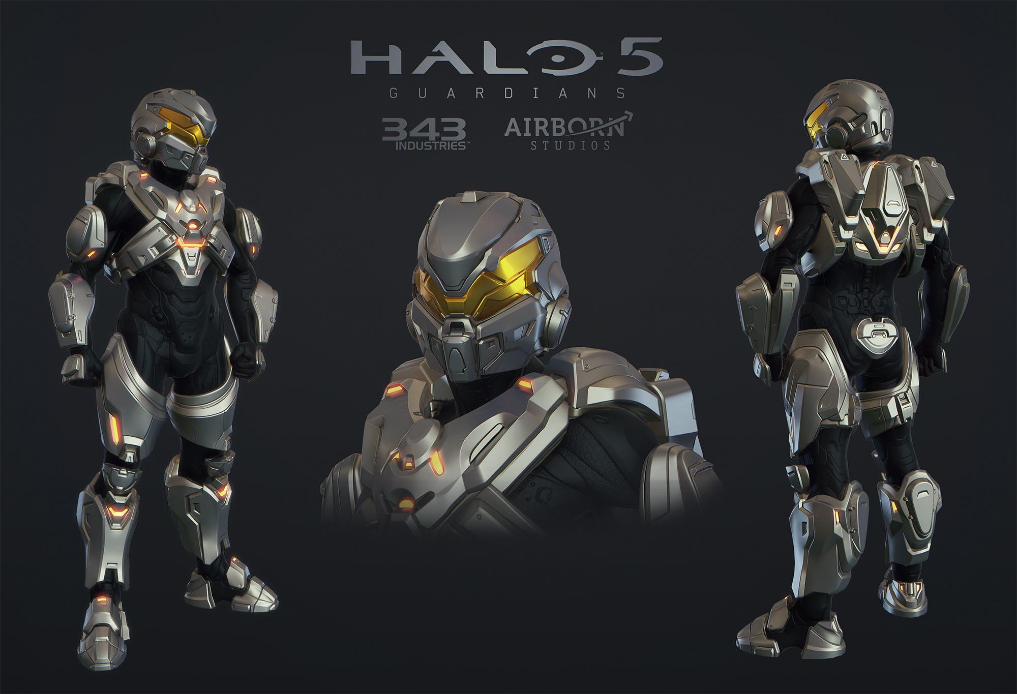 Halo 5 Multiplayer Armor Raijin by polyphobia3d 2000x1365