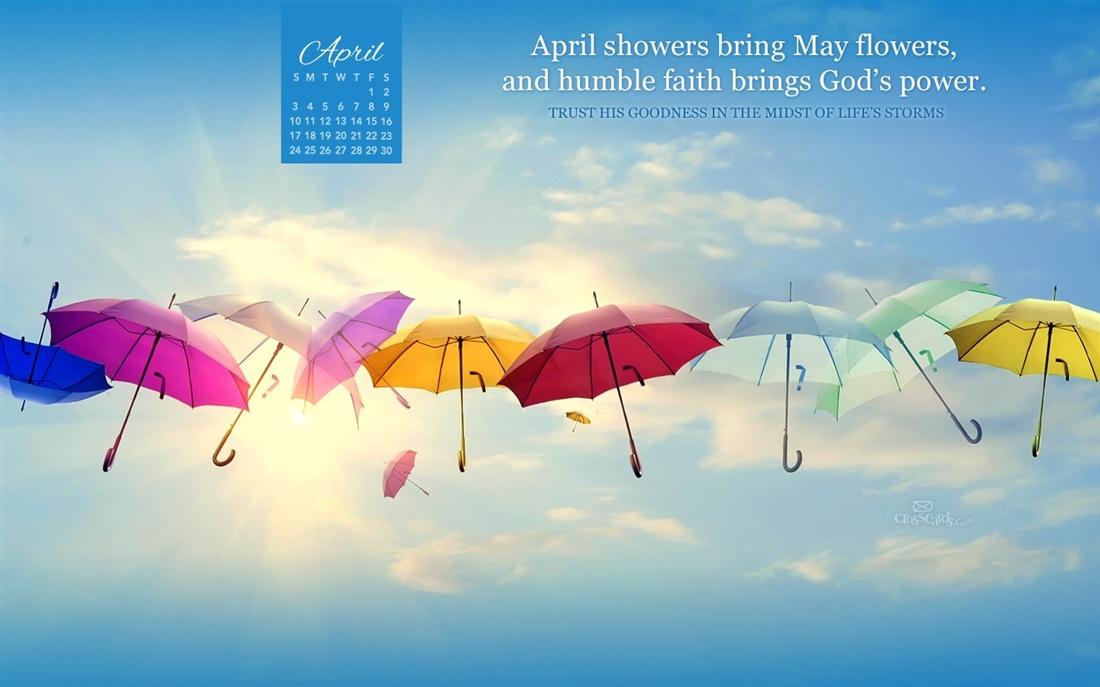 April 2016   Gods Power Desktop Calendar  April Wallpaper 1100x687