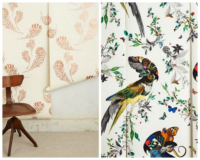 Anthropologie wallpaper wallpapersafari for Anthropologie dreamscape mural