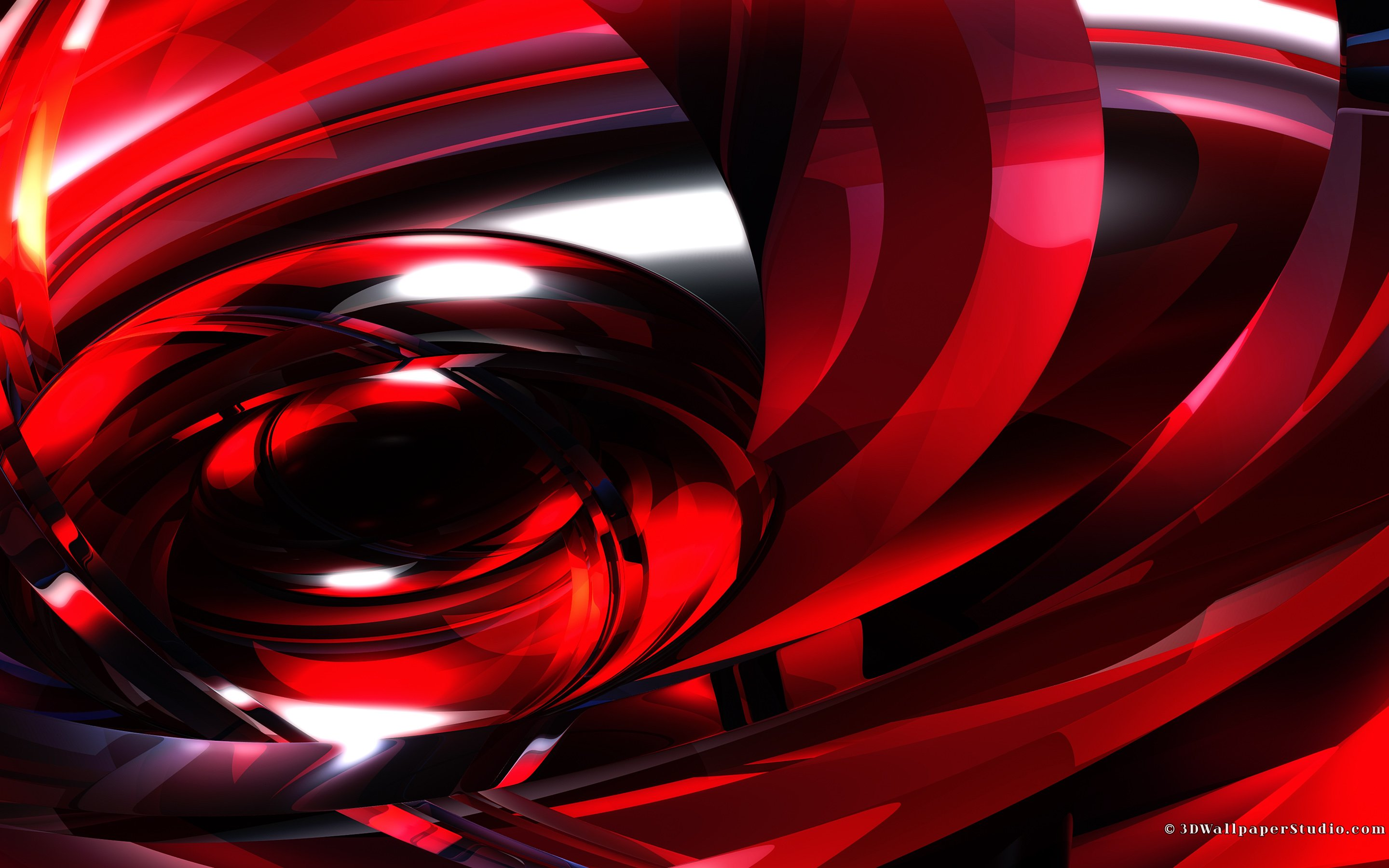 Abstract Red 2880x1800