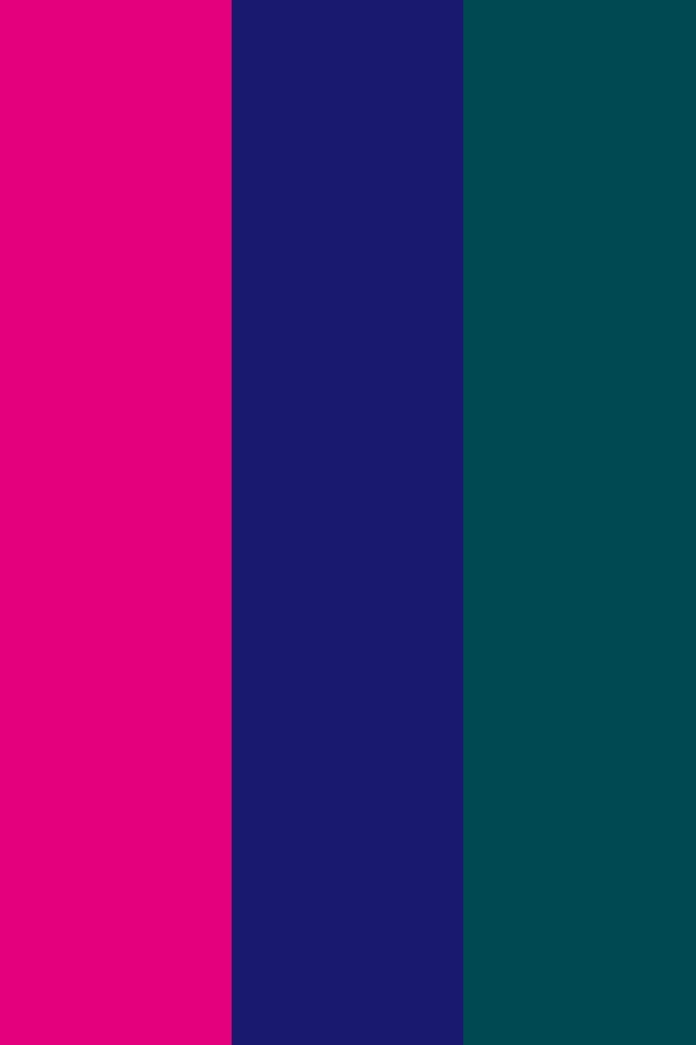 Mexican Pink Midnight Blue and Midnight Green Three Color Background 640x960