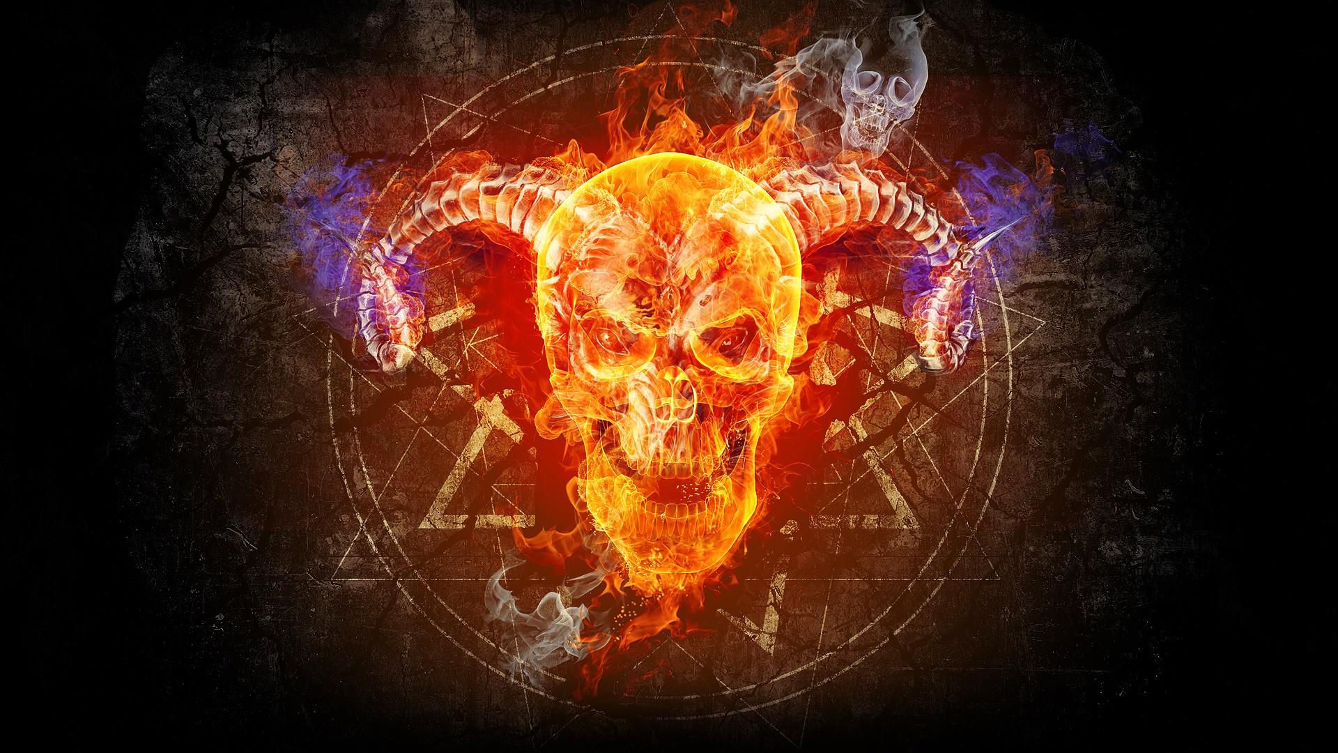 Fire Skull wallpaper   933875 1920x1080