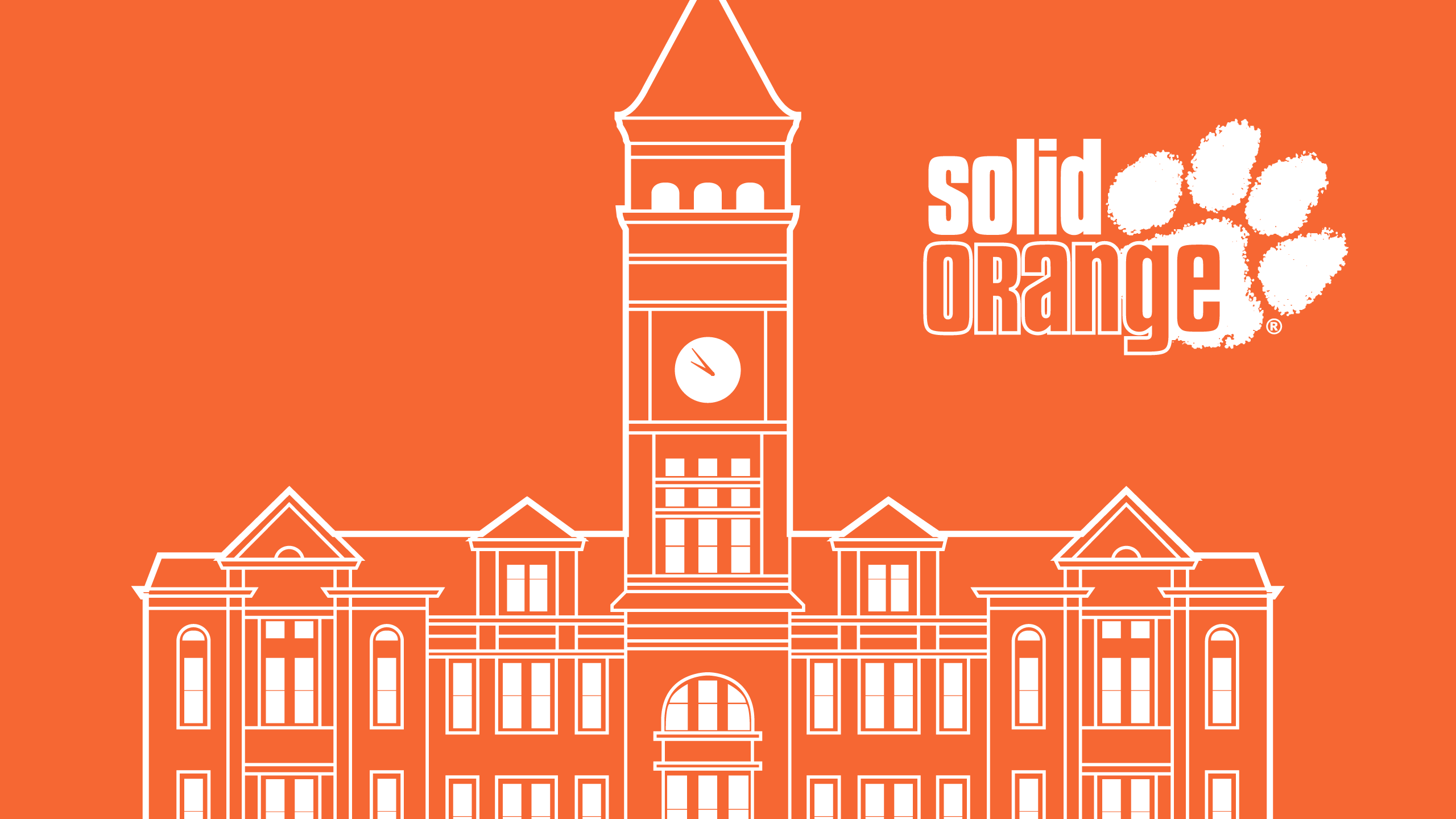 Clemson University Solid Orange 2560x1440