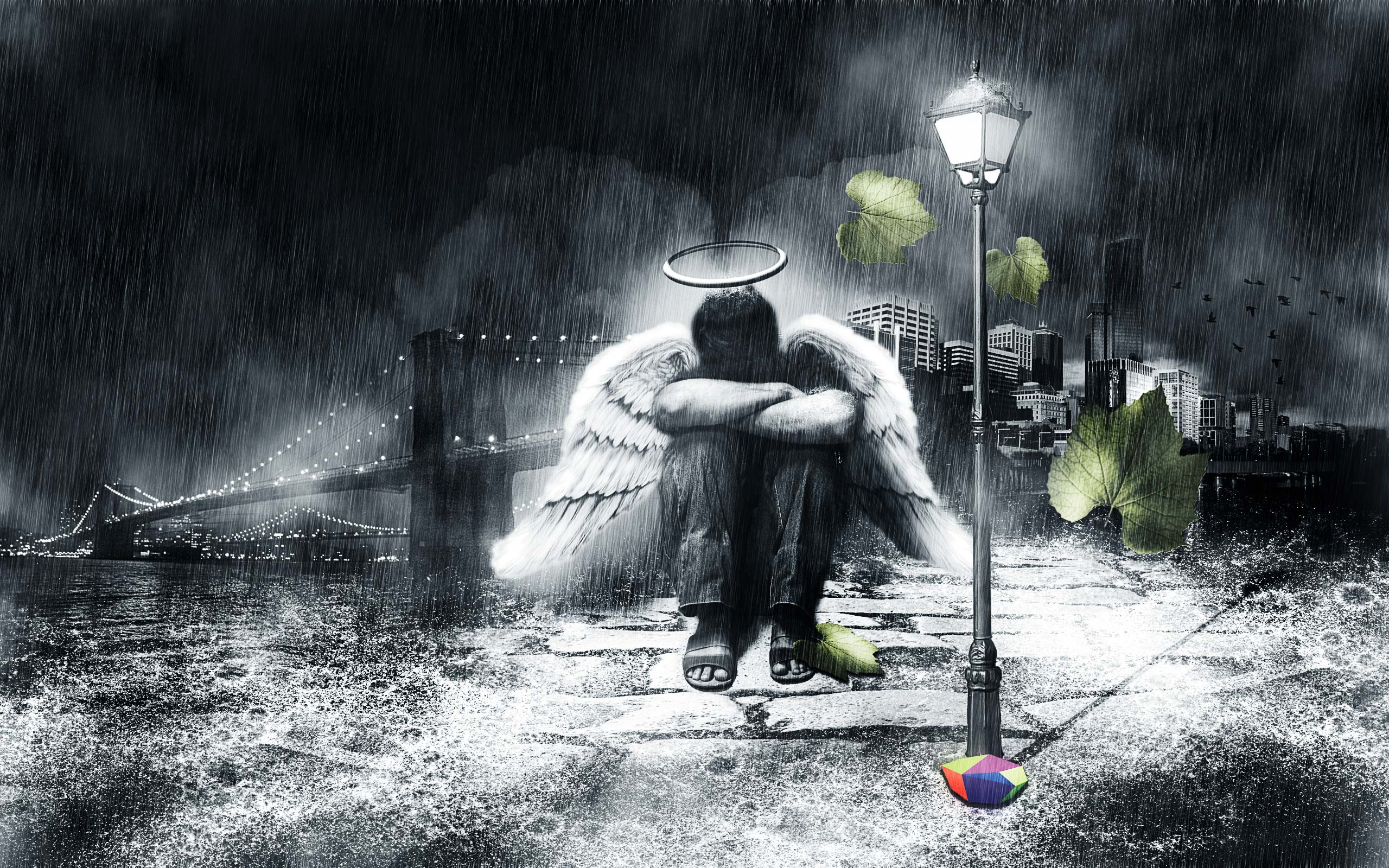Wallpapers   Sad Male Angel wallpaper 2560x1600