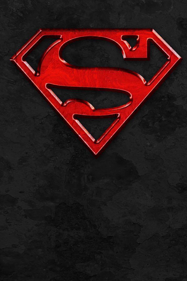 Wallpaper 375 Superman Red and Black Wallpapers 640x960