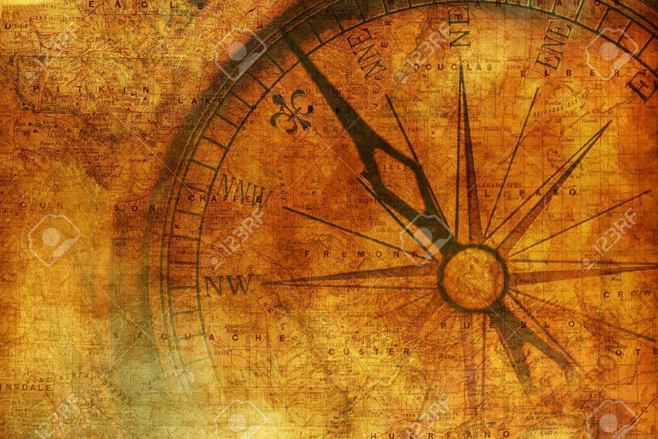 Vintage Journey Background With Aged Metallic Compass Vintage 1300x867