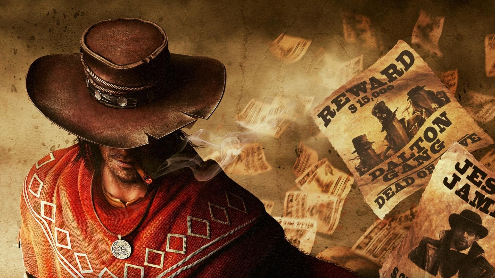 western bounty hunter Call Of Juarez wild west gunslinger cowboy 1920x1080