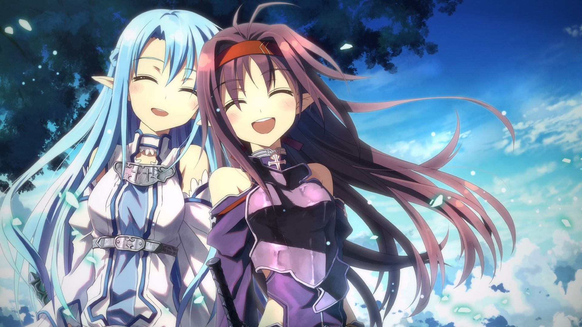 anime Girls Sword Art Online Gun Gale Online Yuuki Asuna Konno 1920x1080