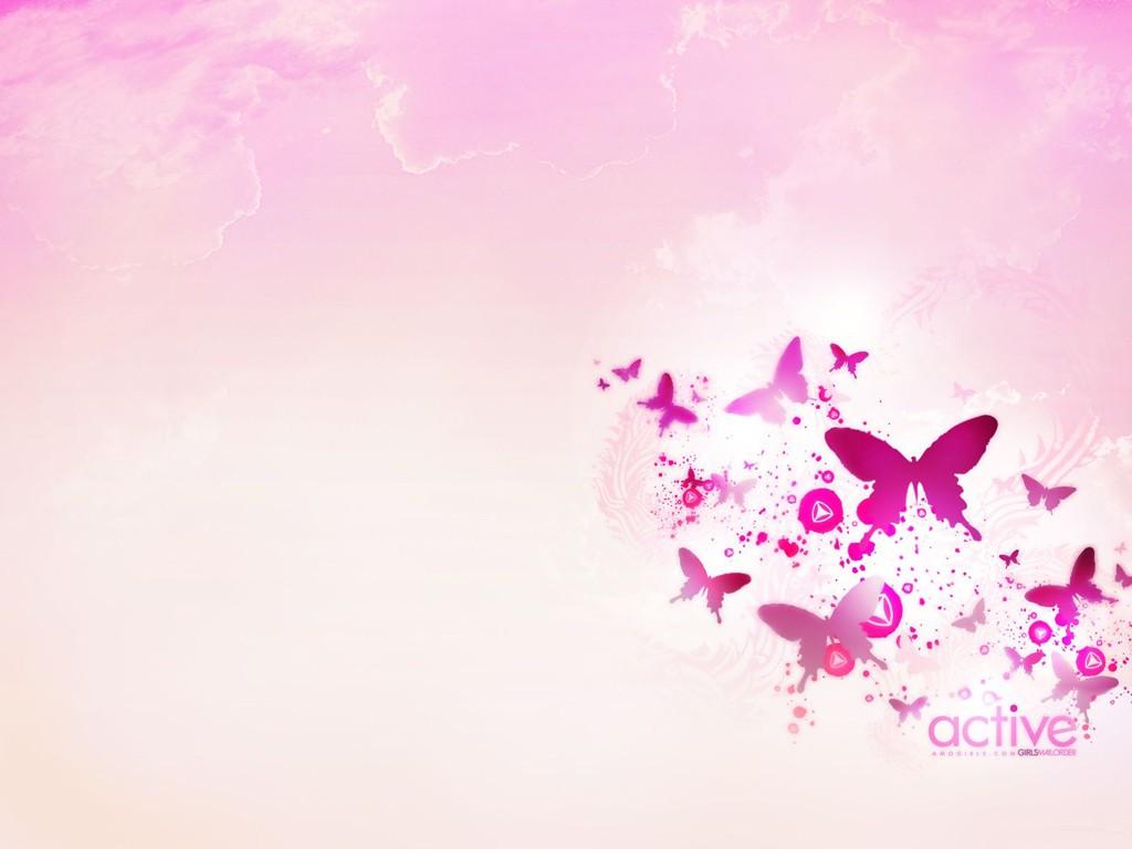 Pink Butterfly Wallpaper Hd Wallpaper Background 1024x768
