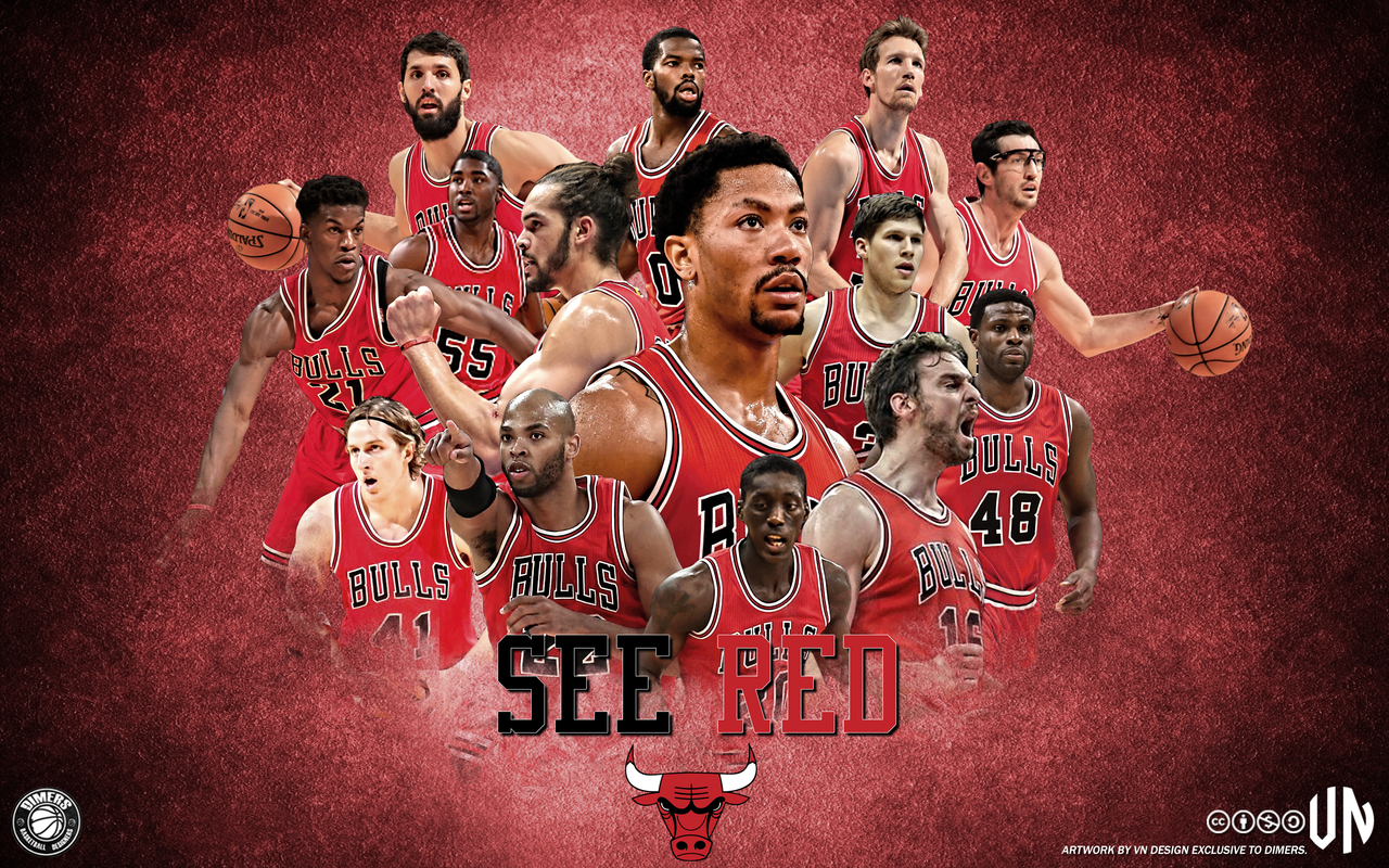 Chicago Bulls See Red by vndesign 1280x800